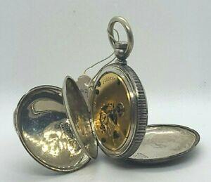 Antique ELGIN POCKET WATCH w/ FAHYS NO. 1 COIN SILVER Hunter Case for Repair