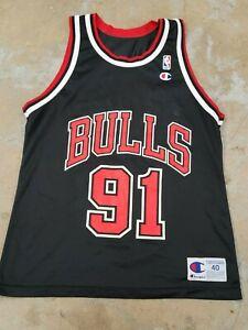 VTG JERSEY CHAMPION CHICAGO BULLS RODMAN #91 SZ 40 MEN NBA SPORT 90S