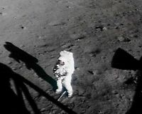 NEIL ARMSTRONG ON THE MOON APOLLO 11 8x10 SILVER HALIDE PHOTO PRINT