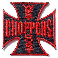 Ecusson Patch brodé thermocollant West Coast Choppers biker trike -noir et rouge