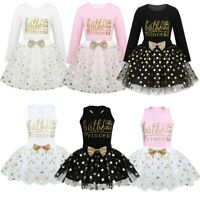Baby Kids Girls Dress Outfit Birthday Princess Party Polka Tutu Skirt Clothes