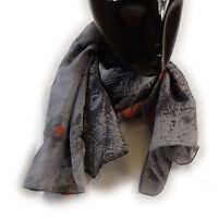 MEXX Damen Schal Tuch 3FIWS020, Gr. one size, Rot Grau