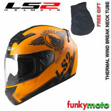 Cascos mate de color principal naranja decorado para conductores