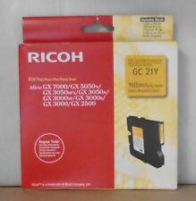 ORIGINALE RICOH GC 21y Cartuccia di stampa YELLOW GX 7000 5050n 3050sfn 3050n 3000 2500