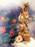 Antique French style sacred heart of our lady ex voto rare  shabby chic lovely