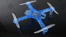 FPV250 QuadroCopter, X-Copter Rahmen/Frame in Farbe BLAU, FPV-Drone, 250mm Groß