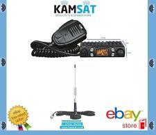 CB Radio mobile CRT uno multistandart AM FM Compatta Mini Antenna CB DELTA 874