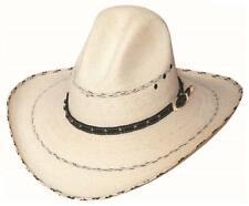 PRESCOTT 20X Palm Leaf Straw GUS Western Rodeo Cowboy Hat Bullhide Montecarlo