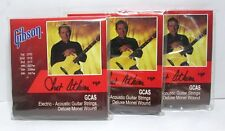 Lot 3 Gibson GCAS Electric Acoustic Guitar Strings Deluxe Chet Atkins .010-.047