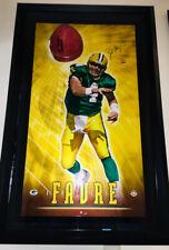 "BRETT FAVRE Signed Autograph ""Breaking Through"" Framed UDA 19/150 Packers"