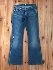 7 FOR ALL MANKIND LADIES DISTRESSED BLUE 'BOOTCUT' DENIM JEANS W30 L31