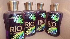 BATH AND BODY WORKS RIO RUMBERRY SHOWER GEL 10 FL OZ X4 BRAND NEW