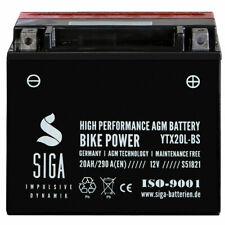 SIGA AGM Motorrad Batterie 20Ah 12V YTX20L-BS Startkraft 290A/EN CTX20L-BS