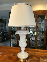 """Vintage Carved Italian Marble Table Lamp, 28"""" Tall (Bottom to Socket), 11"""" Wide"""