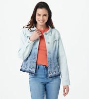 Laurie Felt Classic Denim Ombre Jacket - Denim Ombre - 1X