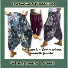 Schnittmuster Haremshose e-book Aladinhose Goa Indien Pluderhose nähen S-XXL