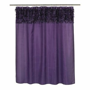 "Carnation Home ""Jasmine"" Fabric Shower Curtain in Purple"