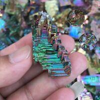 Natural Quartz Crystal Rainbow Titanium Cluster Stone Mineral Specimen Healing