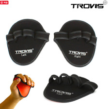 Trovis Neoprene Weight Lifting Grips Gym Training Grip Pads Gloves Fitness