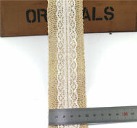 5M Natural Jute Burlap Hessian Ribbon Tape Lace Trims Rustic Wedding DIY Crafts
