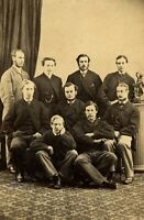 1865 victorious Oxford boat race crew | albumen photograph | 'sensational race'