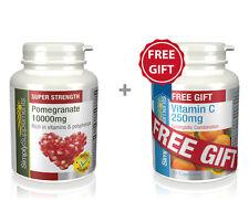 Pomegranate 10000mg 240 Tablets +FREEGIFT Vitamin C 250mg 30 Tablets|Antioxidant