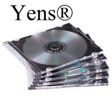 Yens® 100 New Black Single Slim CD DVD Jewel Case 5.2mm 100#5BCD