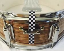 Snare Flair Drum Strap Percussion Checkers Black White USA SnareFlair Straps