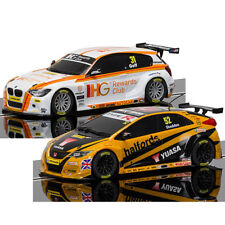 Scalextric Digital Chip Fitted Slot Cars 2x BTCC BMW & Honda