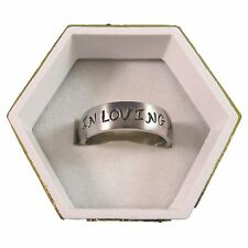 New Stainless Steel 8mm Wide In Loving Memory Personalized Engraved Name Ring
