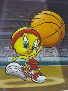 """Roundball Tweety"" Limited Edition 16 x 20 Giclee Classic Moments COA"