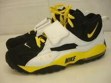 Men's 13 Nike Air Max Speed Turf Steelers Black White Yellow Hawkeyes Shoes Vtg