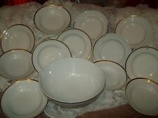 Rare Vintage Haviland Limoges 13 pc Gold Rim Fruit Dessert Set