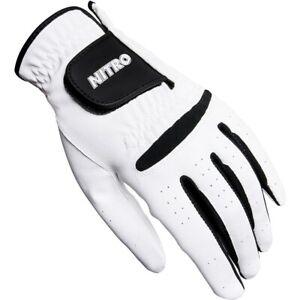 NEW Nitro Crossfire White Golf Glove Left Hand - Pick the Size!