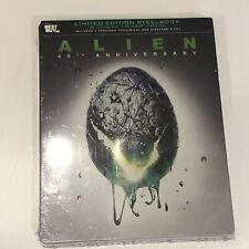 ALIEN 40TH ANNIVERSARY STEELBOOK (4K UHD + Blu-Ray + Digital) 2 Film Versions