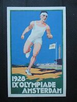 Original lithographed Amsterdam 1928 Olympic Games postcard Olympiade
