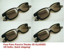 4 Pair Passive 3D Glass with Polarized Plastic Lenses for Vizio LG 3D glasses