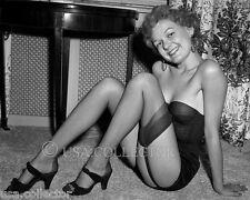 ORIG VTG 1950s SEMI-NUDE SANDY PINUP NEGATIVE IRVING KLAW HEELS GARTERS 8682