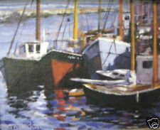 Boat Dock; Print on Canvas