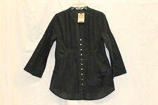 Levi's New With Tags Black 3/4 Length Blouse Shirt Size M Western Buttons 0038