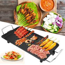 1 pcs 1500W Electric Plate Grill Teppanyaki indoor BBQ Board 48cmx28cm Black