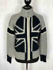 FRED PERRY Cardigan Maglia Maglione Donna Lana Woman Wool Sweater Sz.M - 44