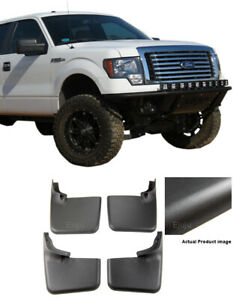 4PCS Mud Flap Splash Guard Mudguard WITHOUT Fender Flares For Ford F-150 04-14