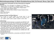 Wageneinlage Motor-Einstellwerkzeug-Satz  für Renault, Nissan, Opel, Volvo