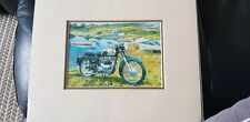 Matchless Motorcycle Mounted Art Print Picture 10 X 12 New