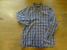 WRANGLER Mens Shirt Medium Blue Check Cotton