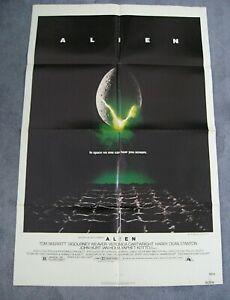Alien (1979) folded 1-sheet.Sigourney Weaver