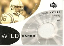 2002 Upperdeck Jerome Pathon Game Worn Pants Football Card #WC-JP