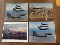 (4) Photos Fighter Planes I Believe F-18 McDonnell Douglas Helicopter Systems