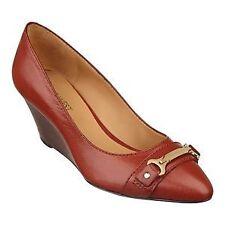 Women's Leather Wedge Heels
